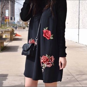 Dresses & Skirts - Slip dress with floral embroidery